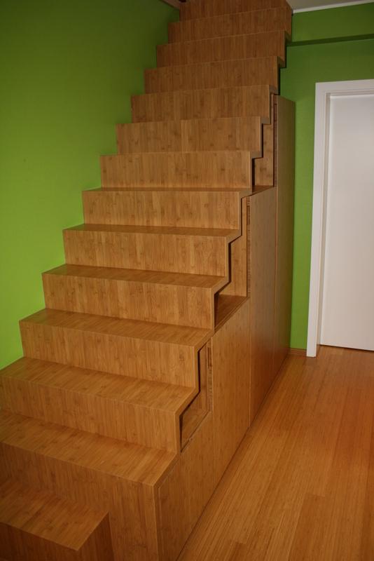 Treppe in Bambus